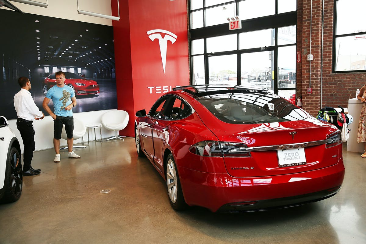 A Tesla Model S Sits Parked In New Showroom And Service Center Red Hook Brooklyn On July Jpeg Auto Format Compress W 1200