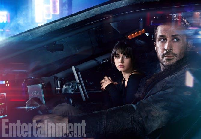 Blade Runner 2049, Ana de Armas and Ryan Gosling.