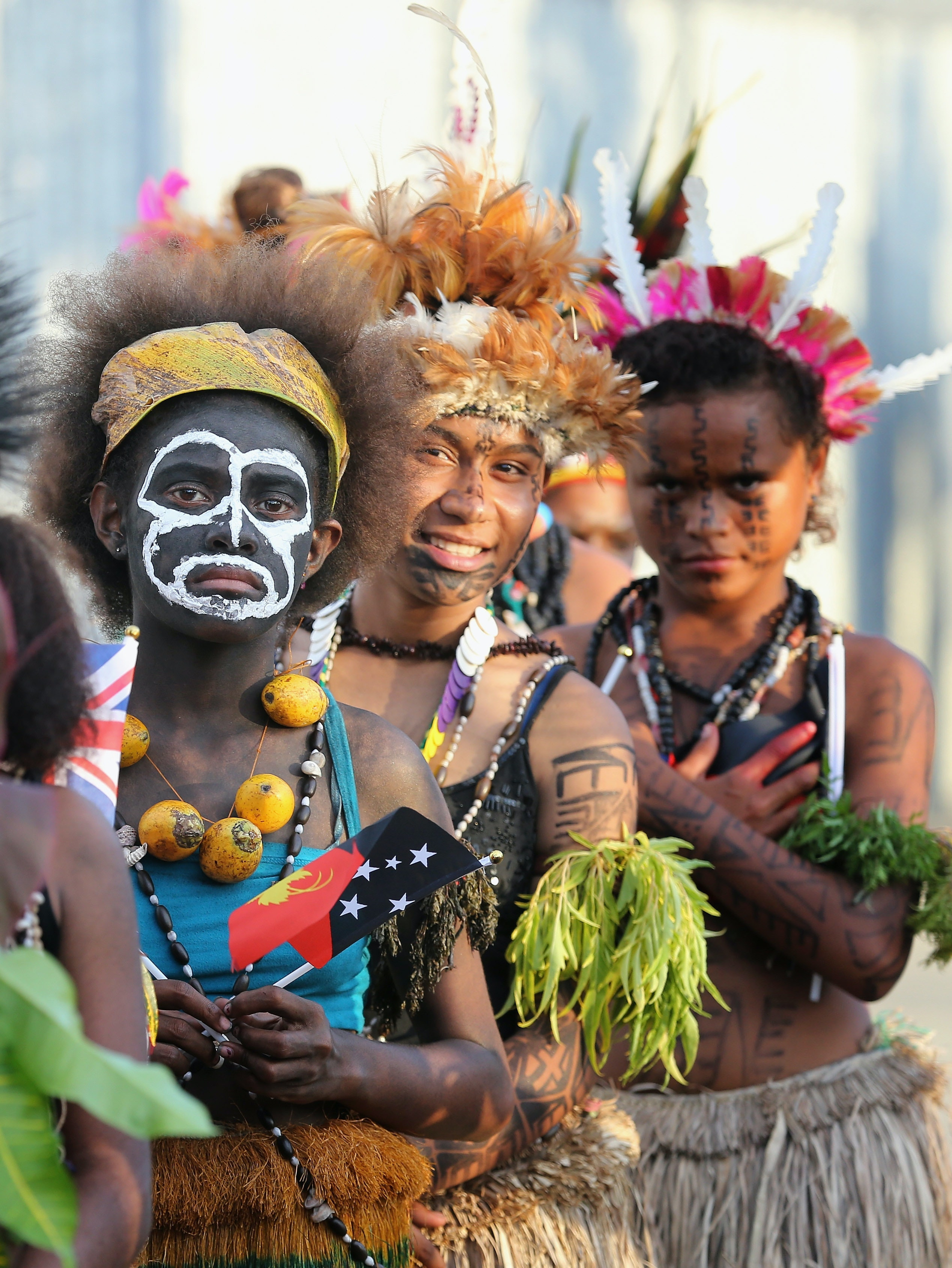 Young Papua dancers in Port Moresby, Papua New Guinea, in 2012.
