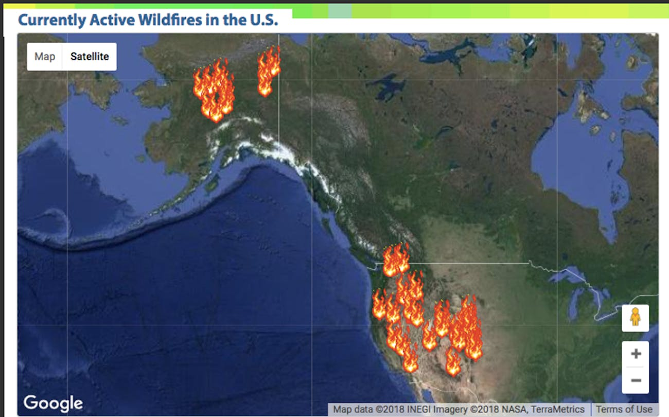 This year is proving to be another active wildfire season.