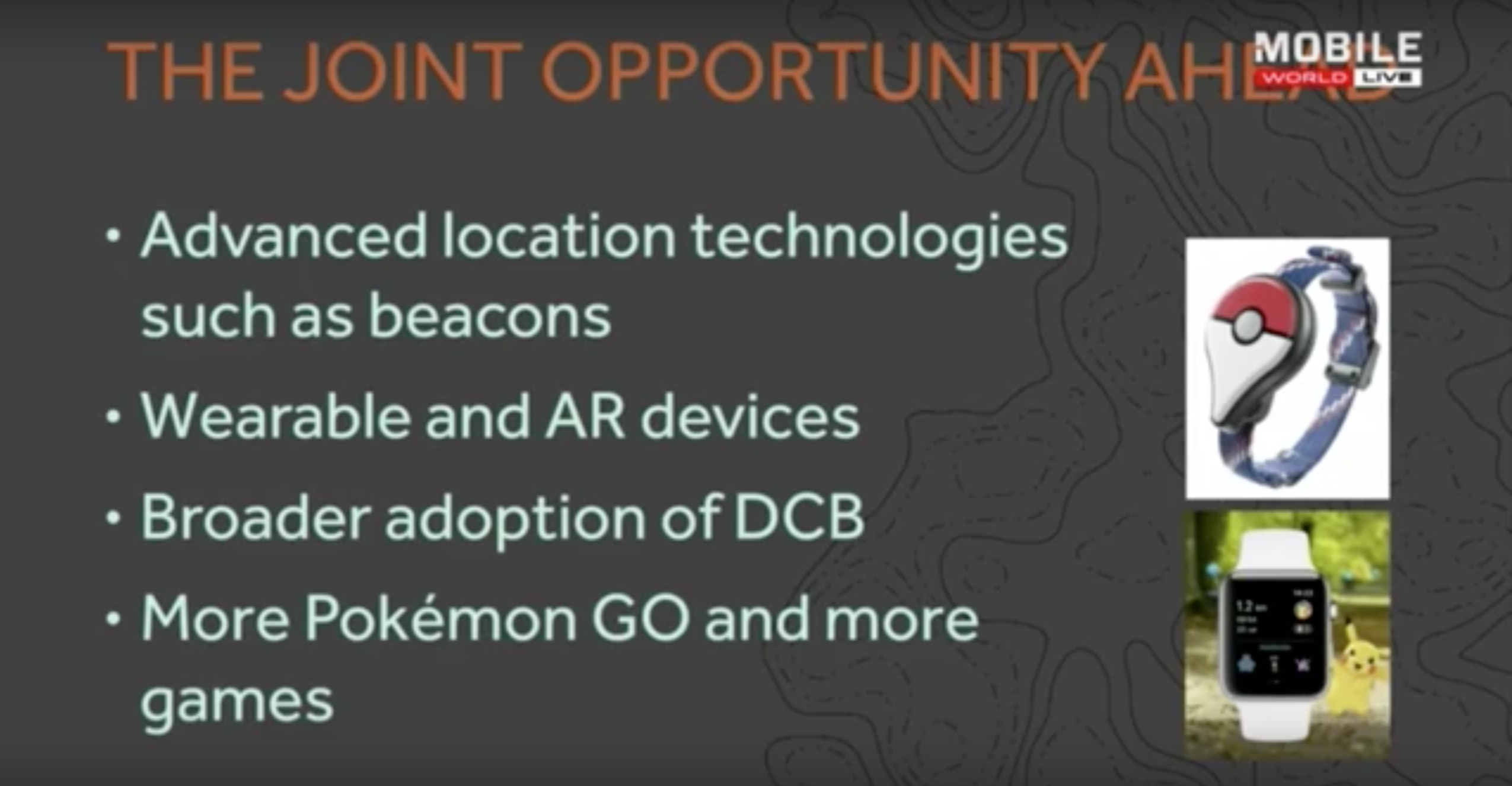 Hanke's slide on future directions for Niantic games