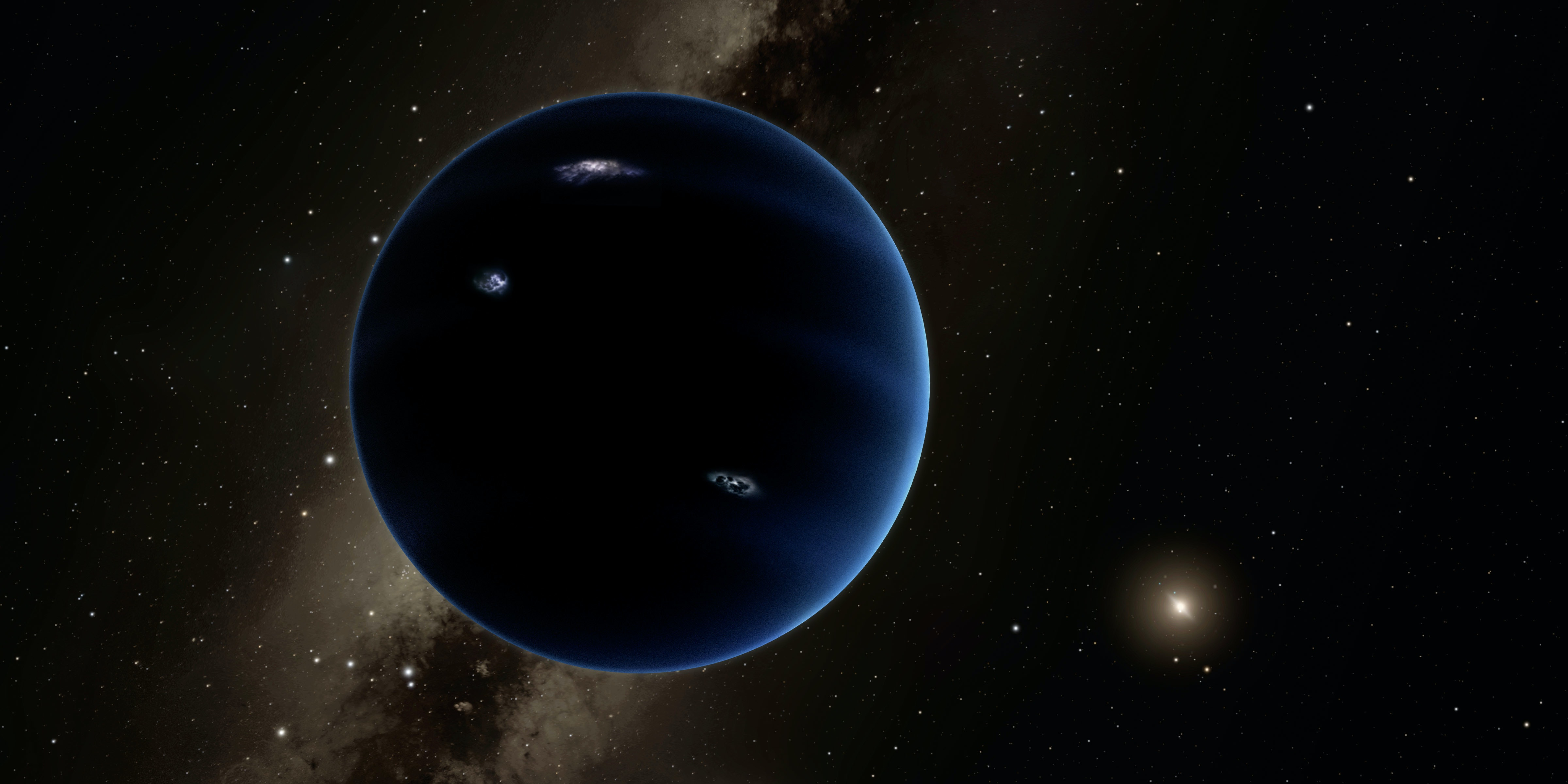 """Image result for Planet Nine: """"Ghost Planet"""" Could Be Orbiting Beyond Neptune, Scientists Say"""