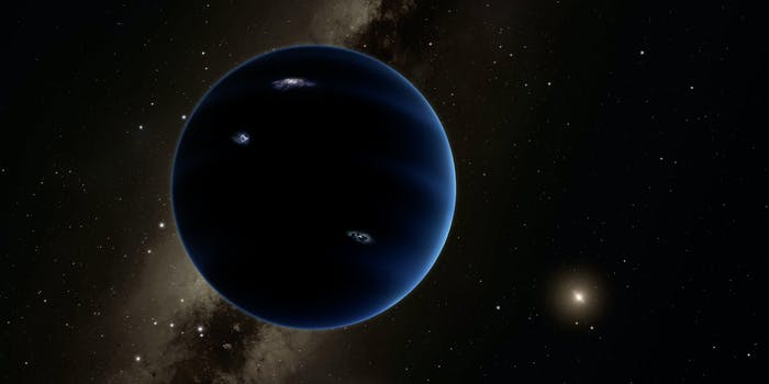 Artist's rendition of what Planet Nine might look like.