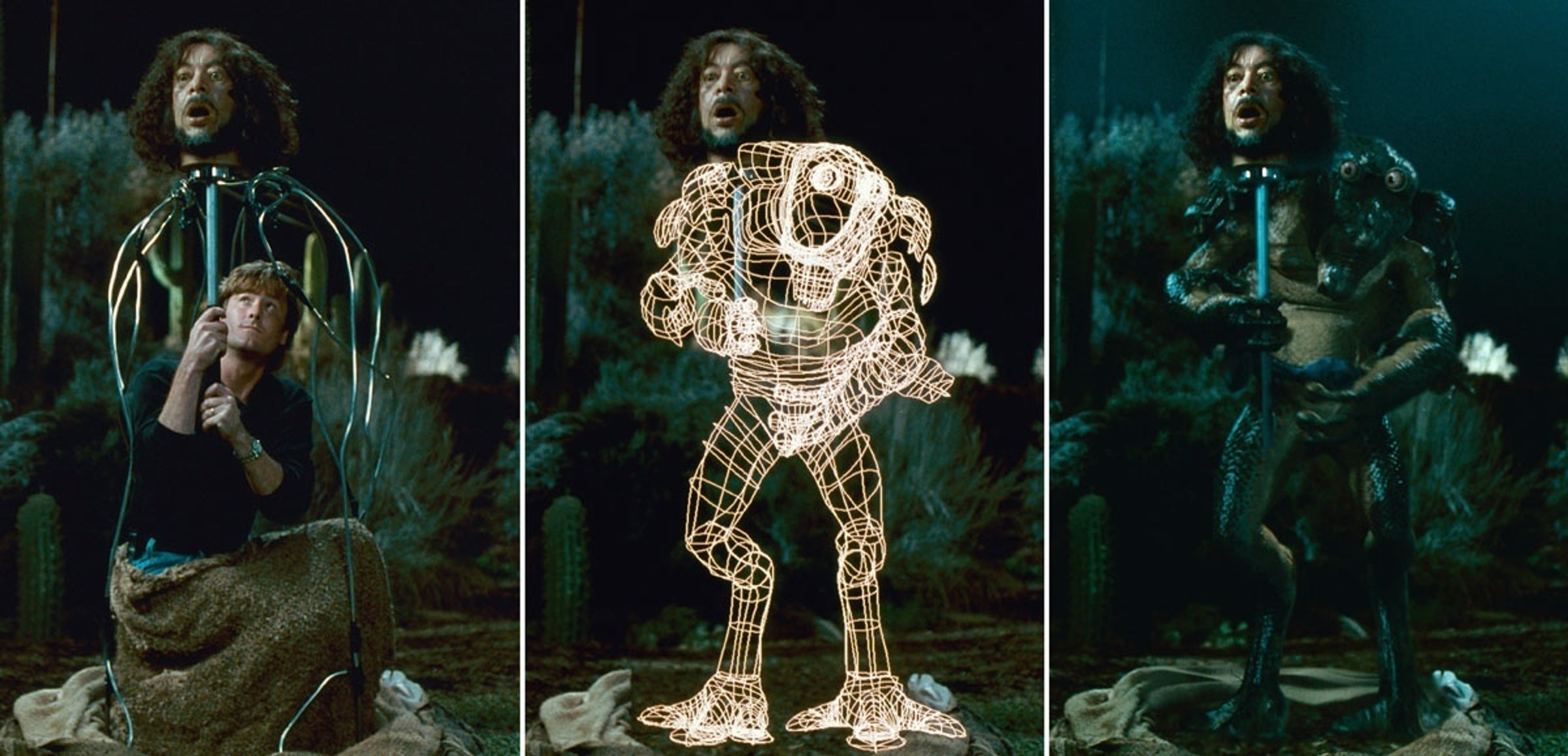 A breakdown of a combination practical and digital effect in Men in Black.
