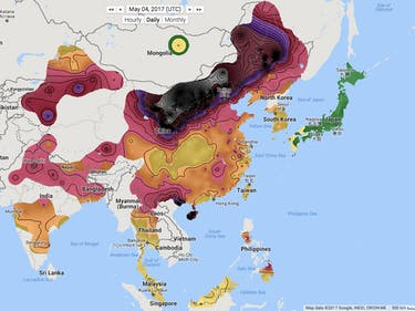berkeley earth air pollution map smog china beijing