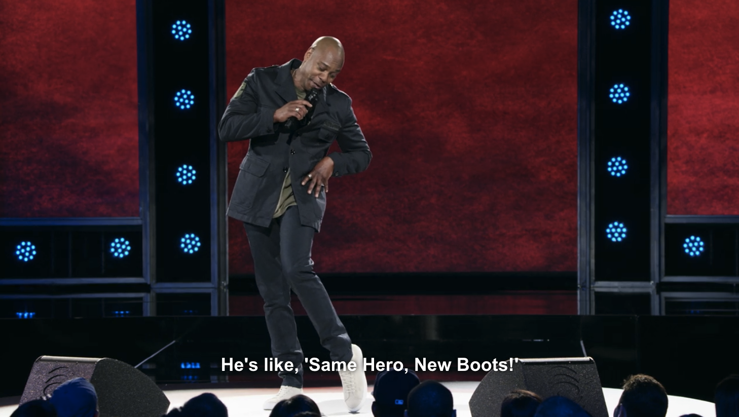 """Dave Chappelle in """"The Age of Spin"""" on Netflix"""