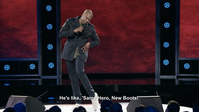 "Dave Chappelle in ""The Age of Spin"" on Netflix"