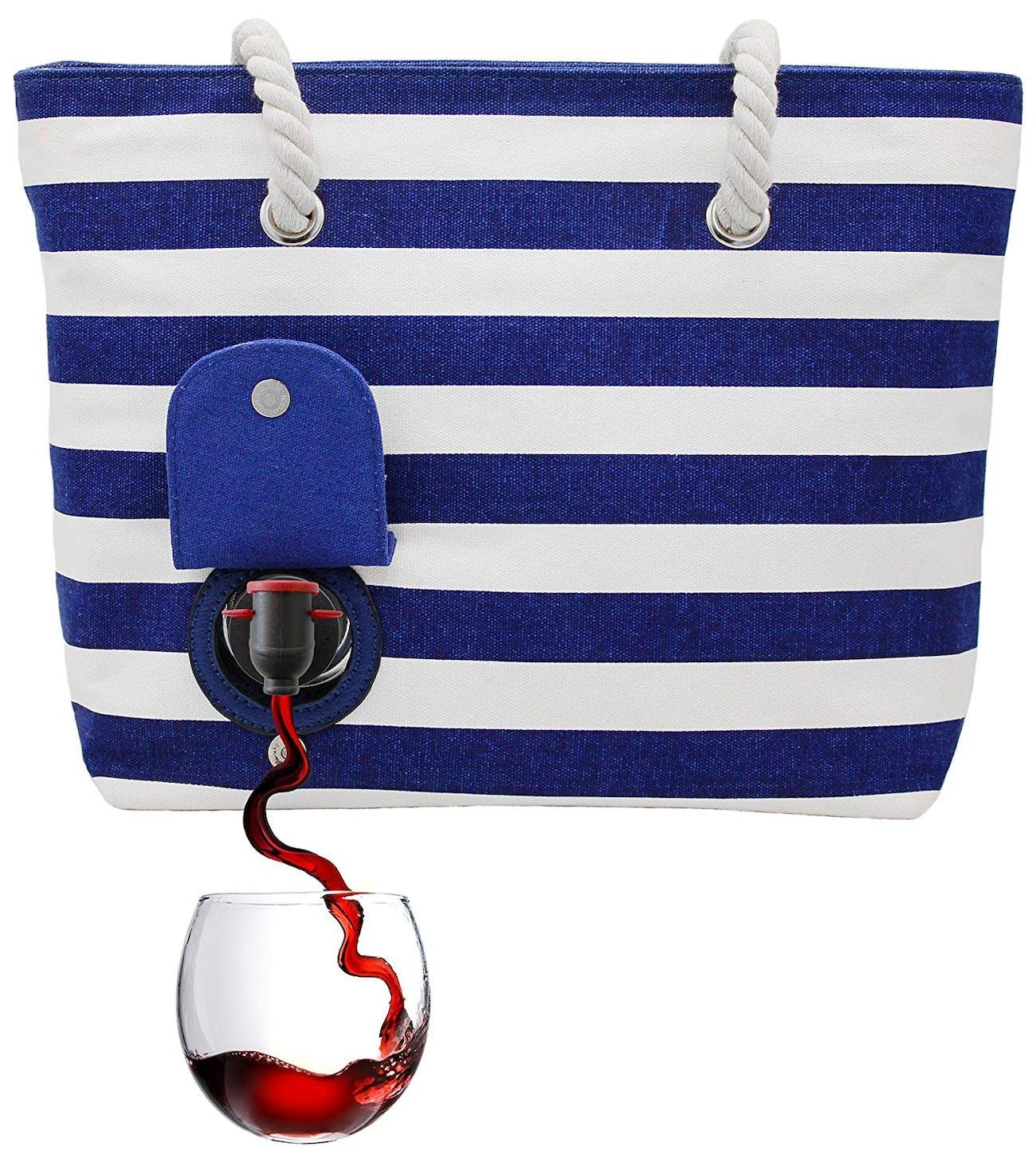 wine, drinks, beach, alcohol, fashion, bag, Valentine's Day