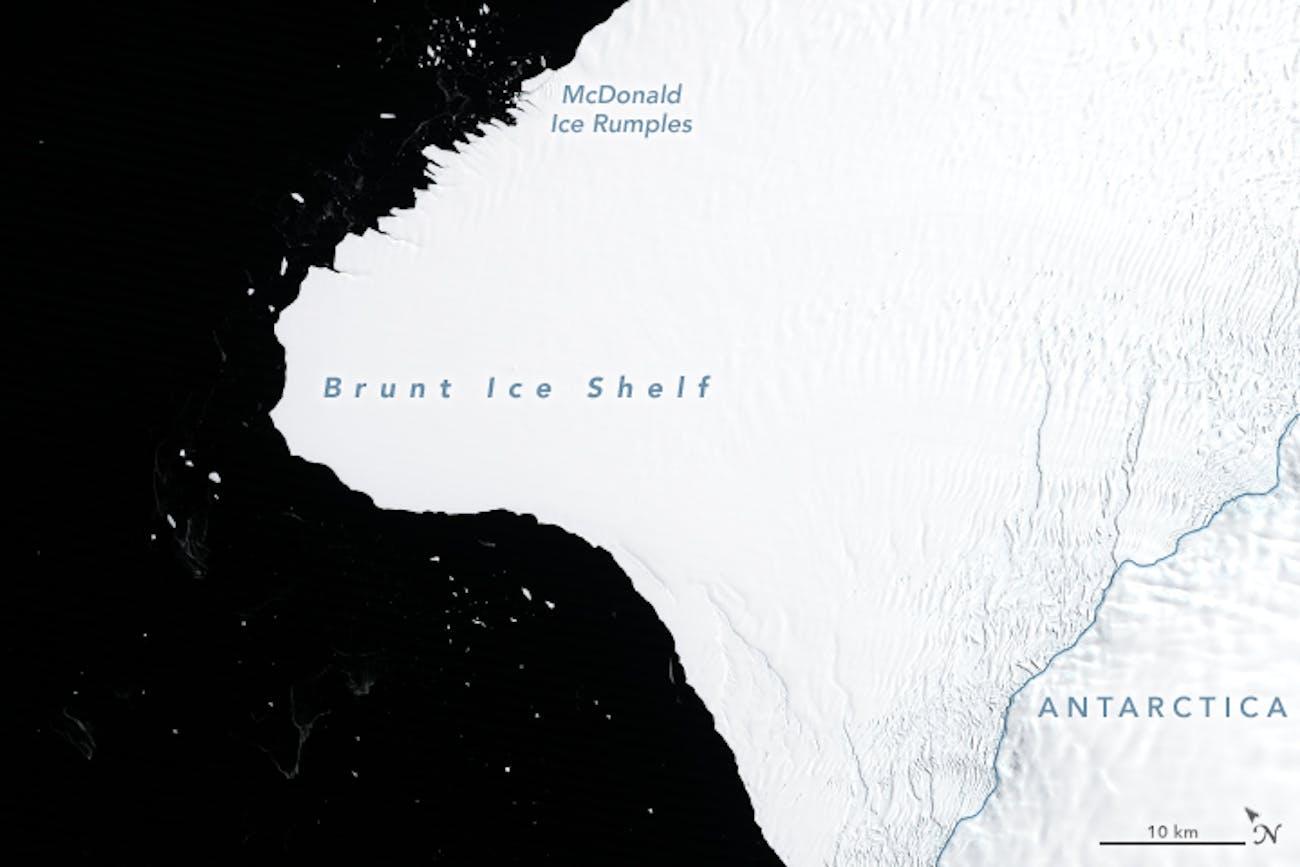 brunt ice shelf antartica