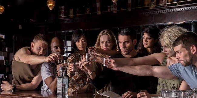 Sense8 Season 2 including Lito, Will, Riley, Wolfgang, Kala, Capheus, Sun, and Nomi