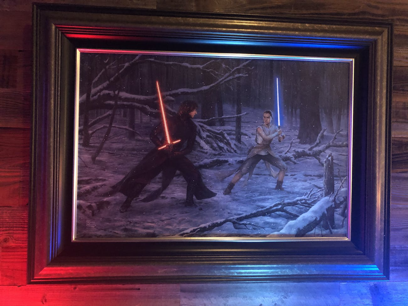 the force awakens painting duel