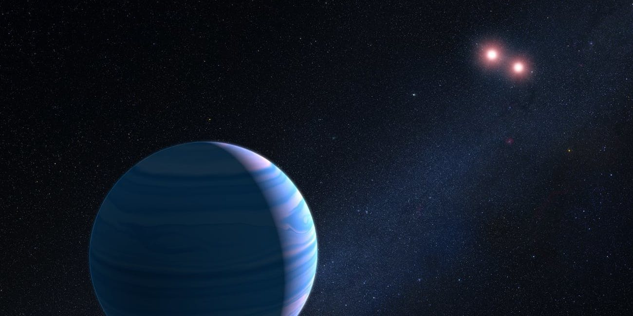 hubble telescope finds planet orbiting two suns inverse