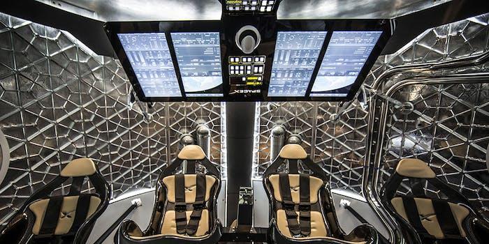 Crew Dragon interior seats