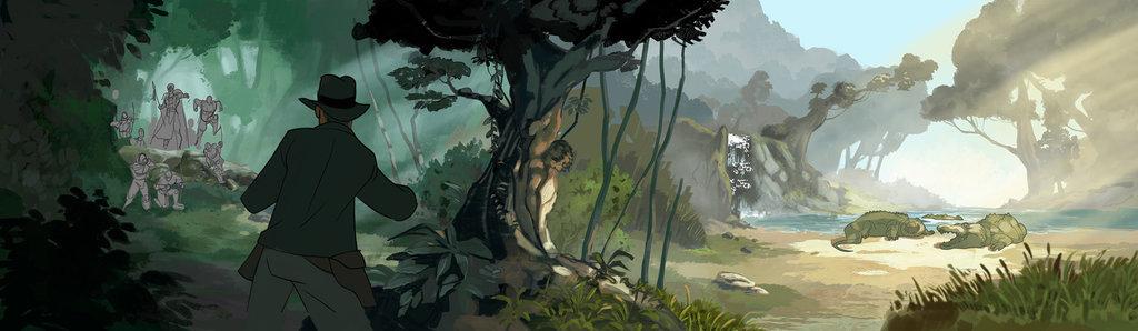 Patrick Schoenmaker's environment concept art from 'The Adventures of Indiana Jones'