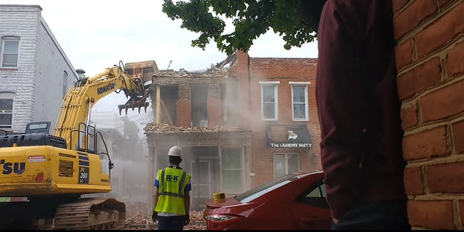 Baltimore demolition fail video