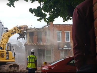 Watch a Building Demolition Go Unexpectedly Wrong
