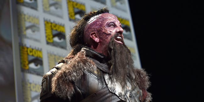 """SAN DIEGO, CA - JULY 23: Taserface from Marvel Studios' 'Guardians Of The Galaxy Vol. 2"""" attends the San Diego Comic-Con International 2016 Marvel Panel in Hall H on July 23, 2016 in San Diego, California. ©Marvel Studios 2016  (Photo by Alberto E. Rodriguez/Getty Images for Disney)"""