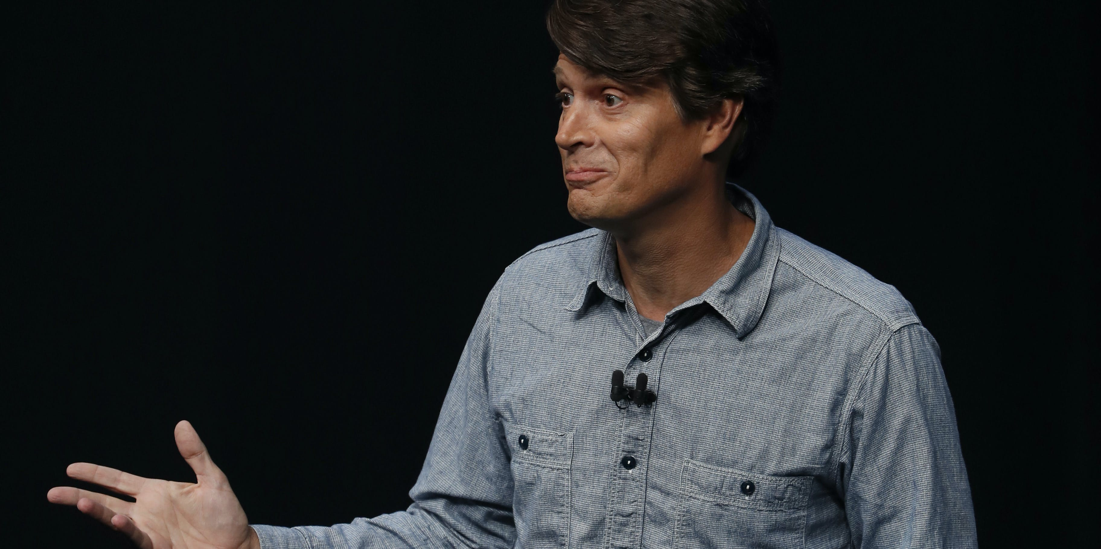SAN FRANCISCO, CA - SEPTEMBER 07: John Hanke, CEO of Niantic, Inc, speaks on stage during an Apple launch event on September 7, 2016 in San Francisco, California. Apple Inc. unveiled the latest iterations of its smart phone, the iPhone 7 and 7 Plus, the Apple Watch Series 2, as well as AirPods, the tech giant's first wireless headphones. (Photo by Stephen Lam/Getty Images)