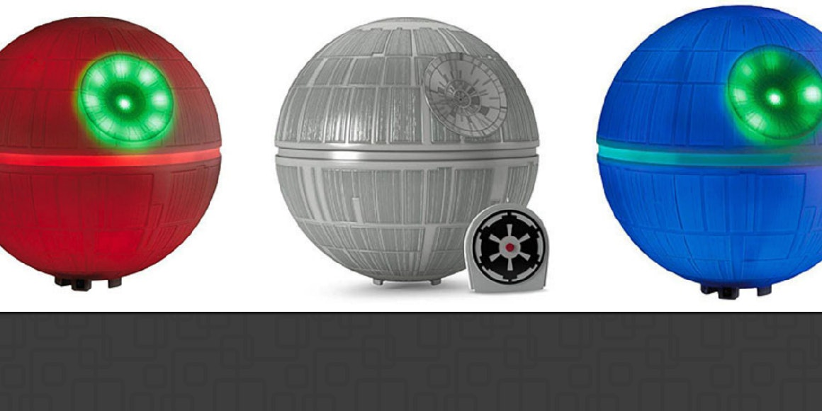 This Death Star Christmas Tree Topper