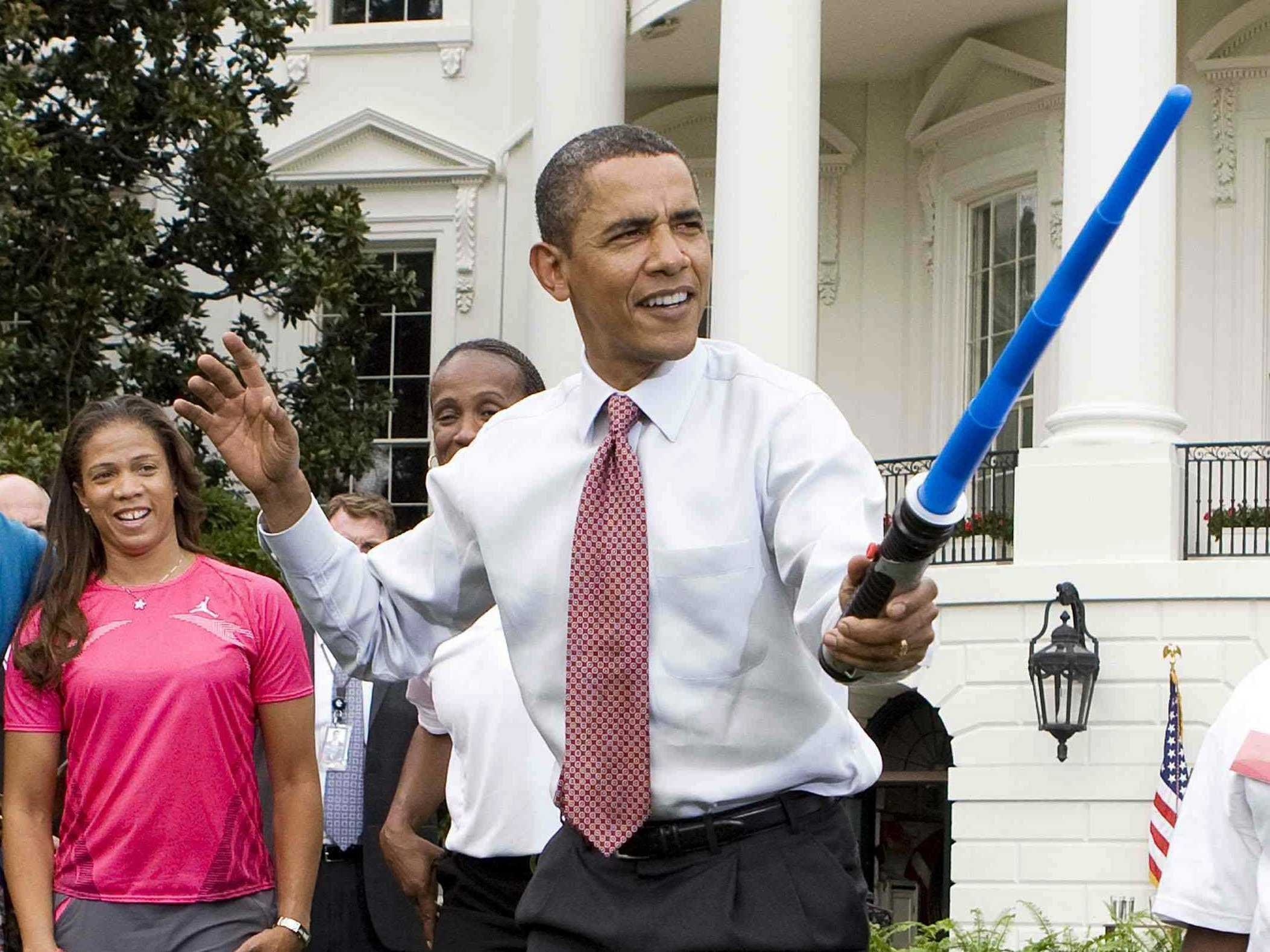 The Obamas Dance with R2-D2in Celebration of