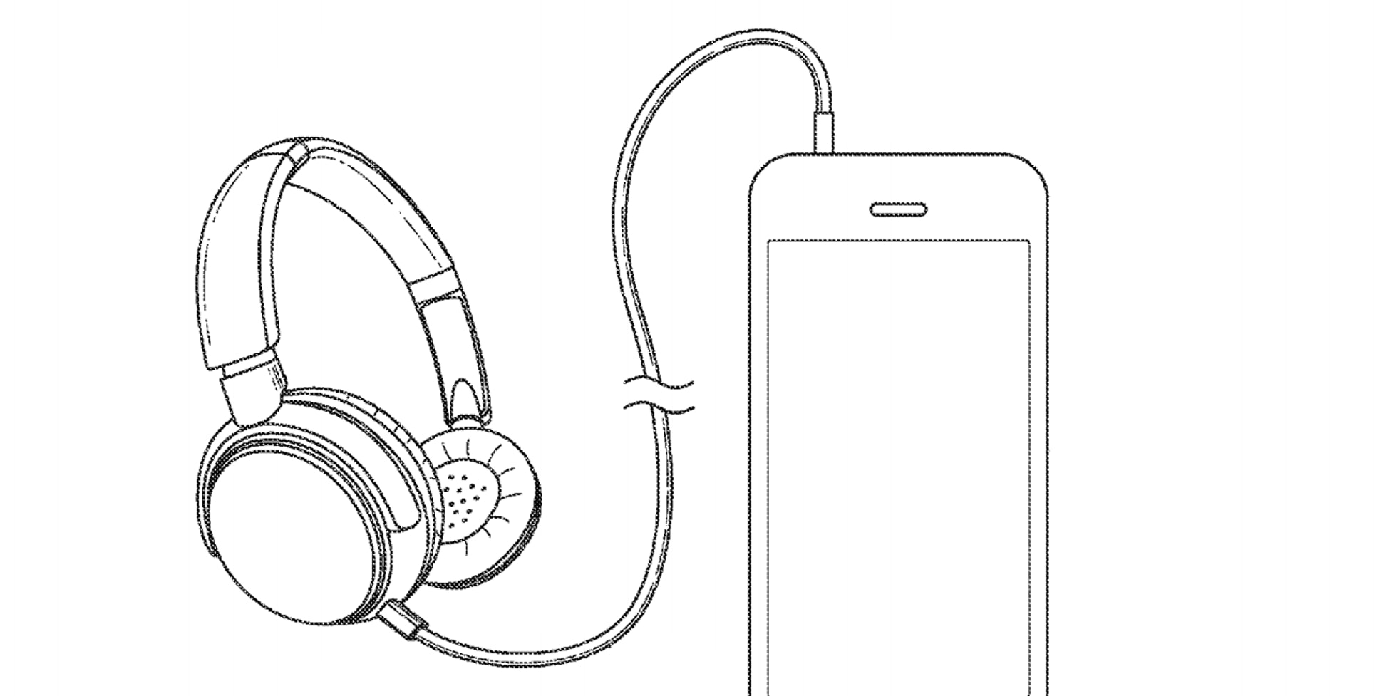 Line Art Headphones : Apple patent shows how much better an iphone without a