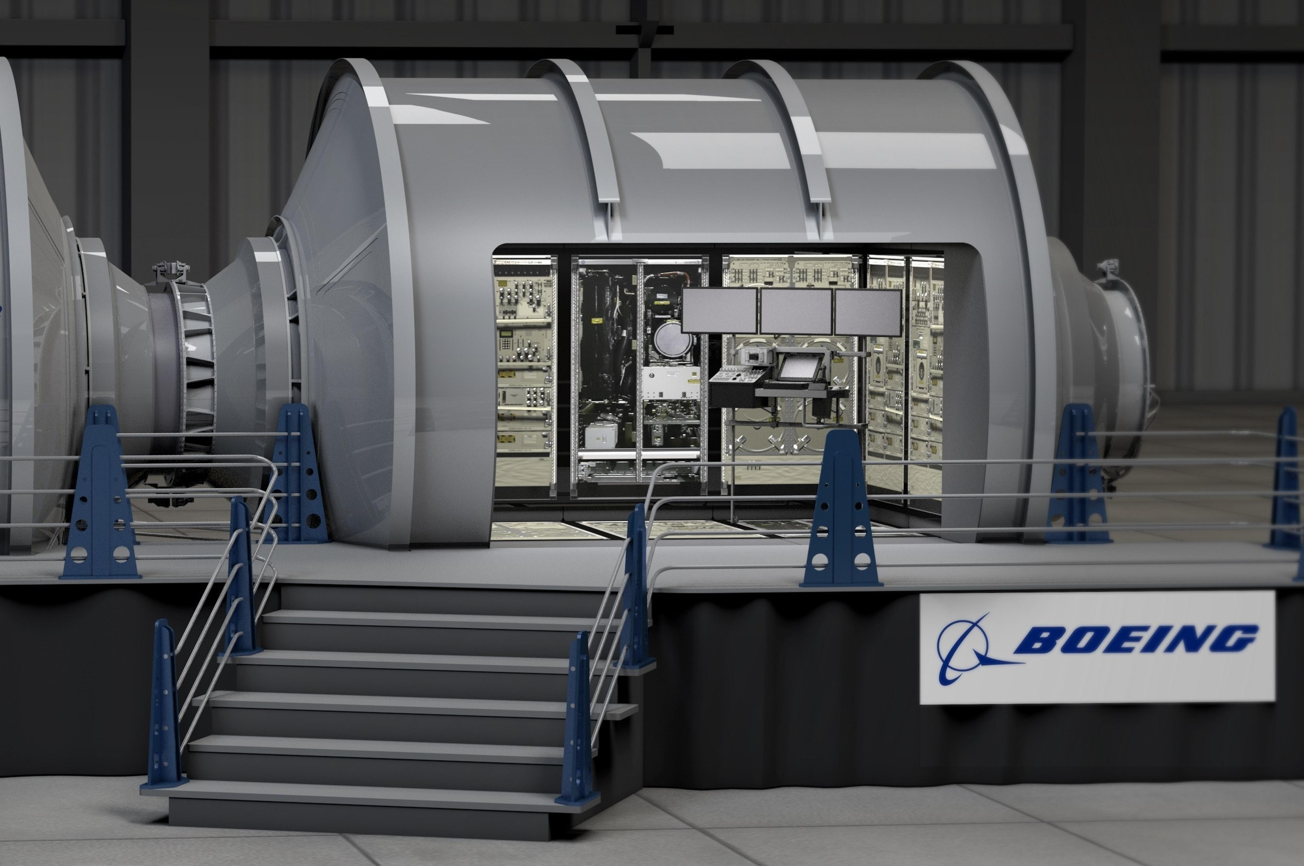 Concept image of Boeing's prototype habitation module.