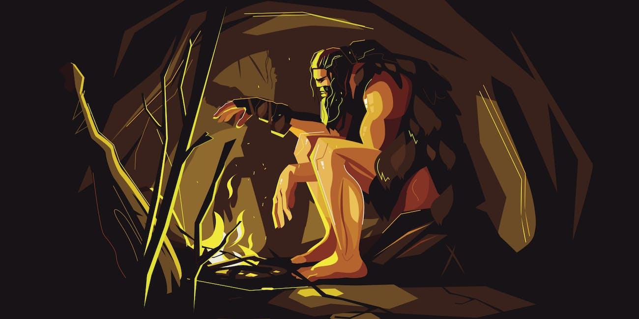 Neanderthal, ancient human, cave