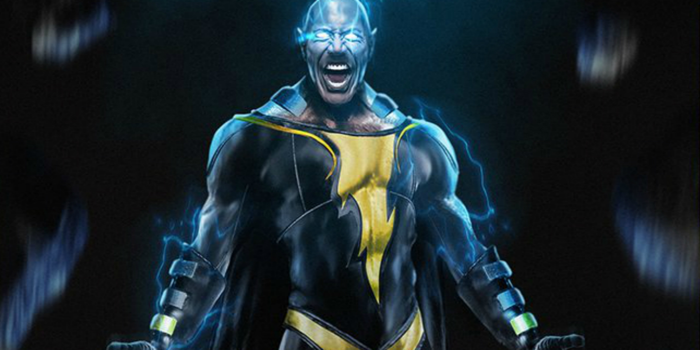 Fans are already rendering images of Black Adam as played by Johnson.