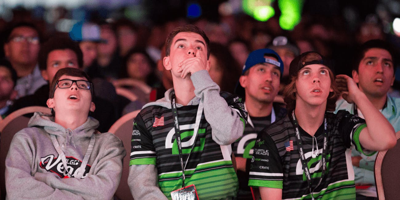 OpTic fans look on.