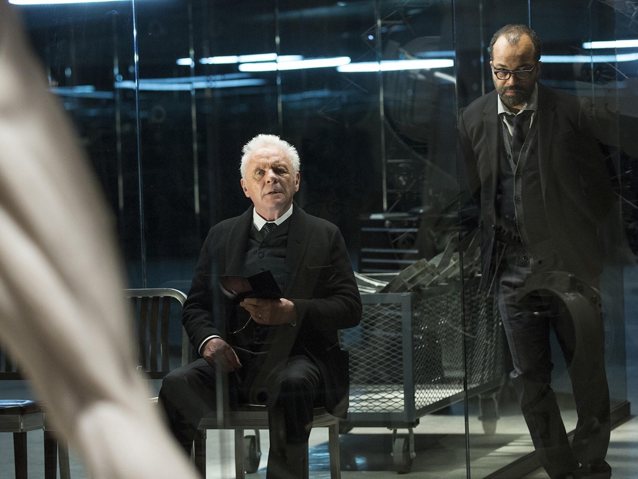 Dr. Robert Ford and Bernard Lowe.