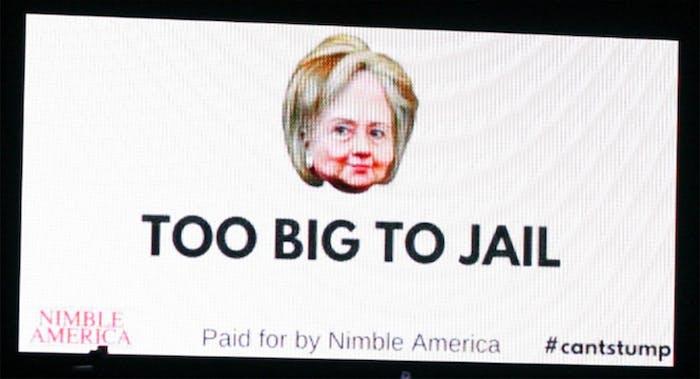 Here's Nimble America's shitpost of a billboard.