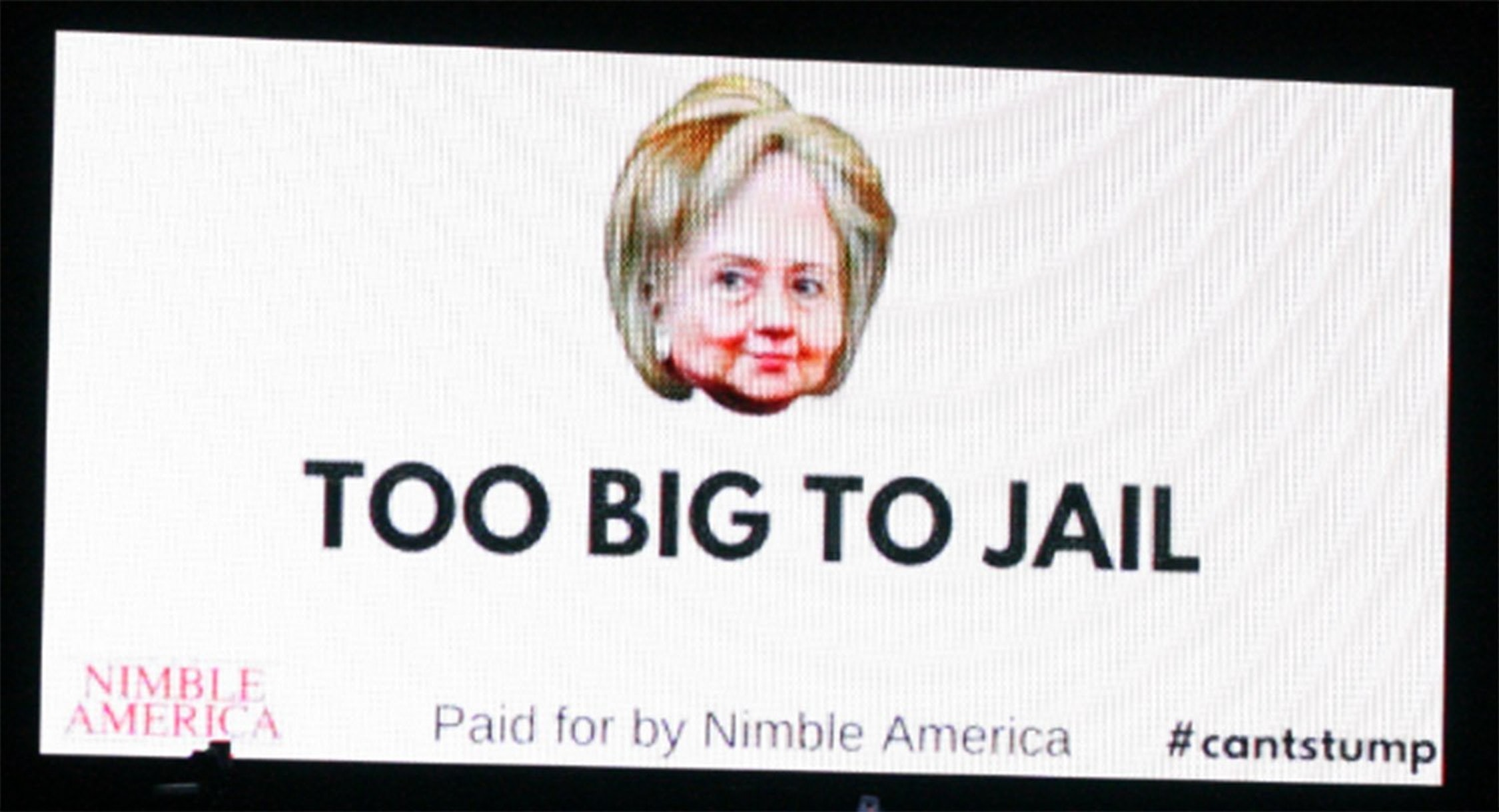 Here's Nimble America's shitpost of a billboard.