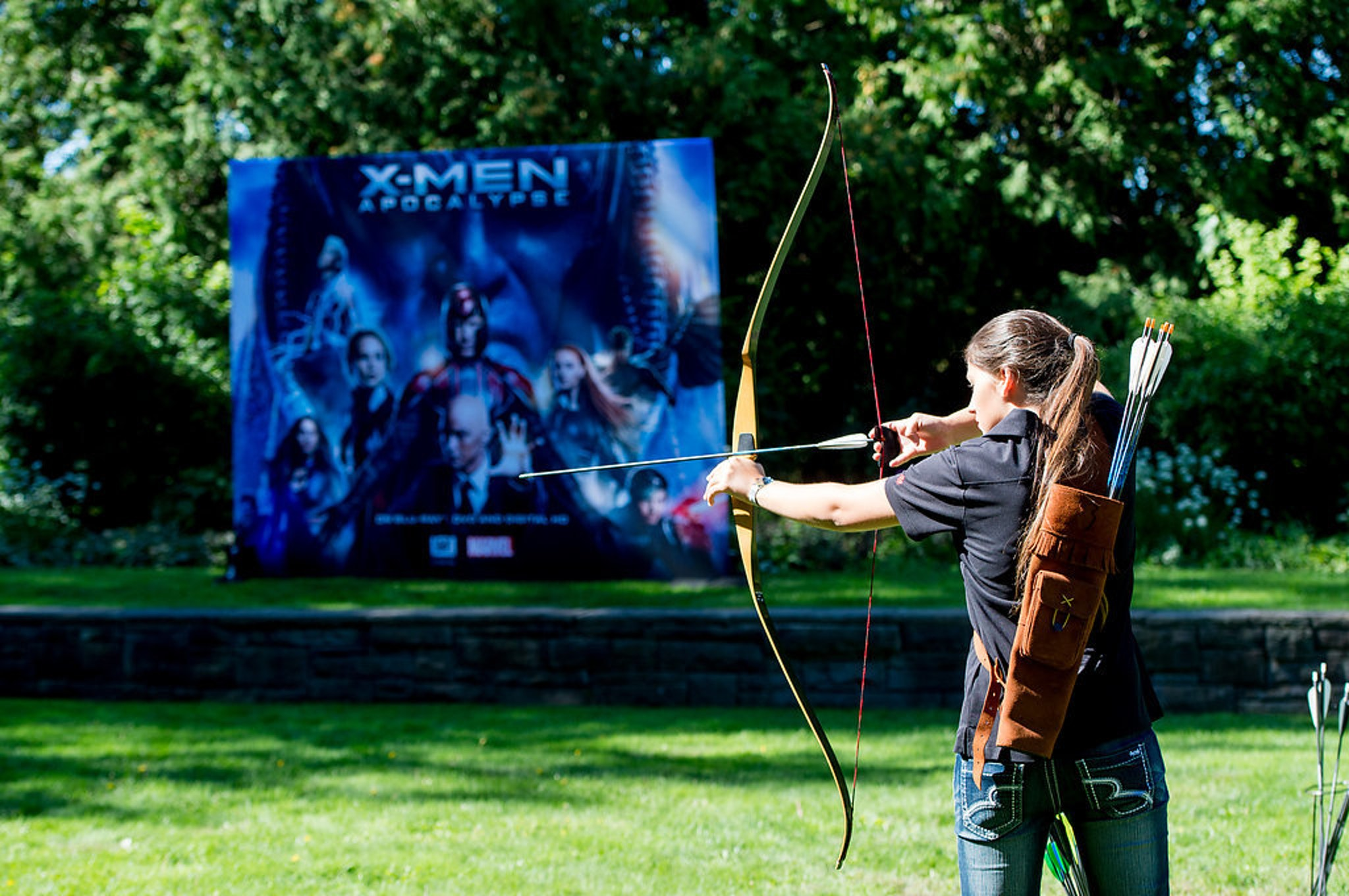 Professional archery instructors were on hand at the mansion to ensure we wouldn't shoot our eyes out.