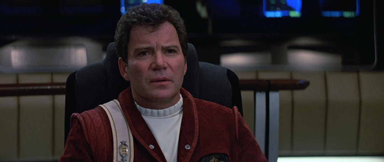 William Shatner as Captain Kirk  in 1989's 'Star Trek V: The Final Frontier', which he directed.
