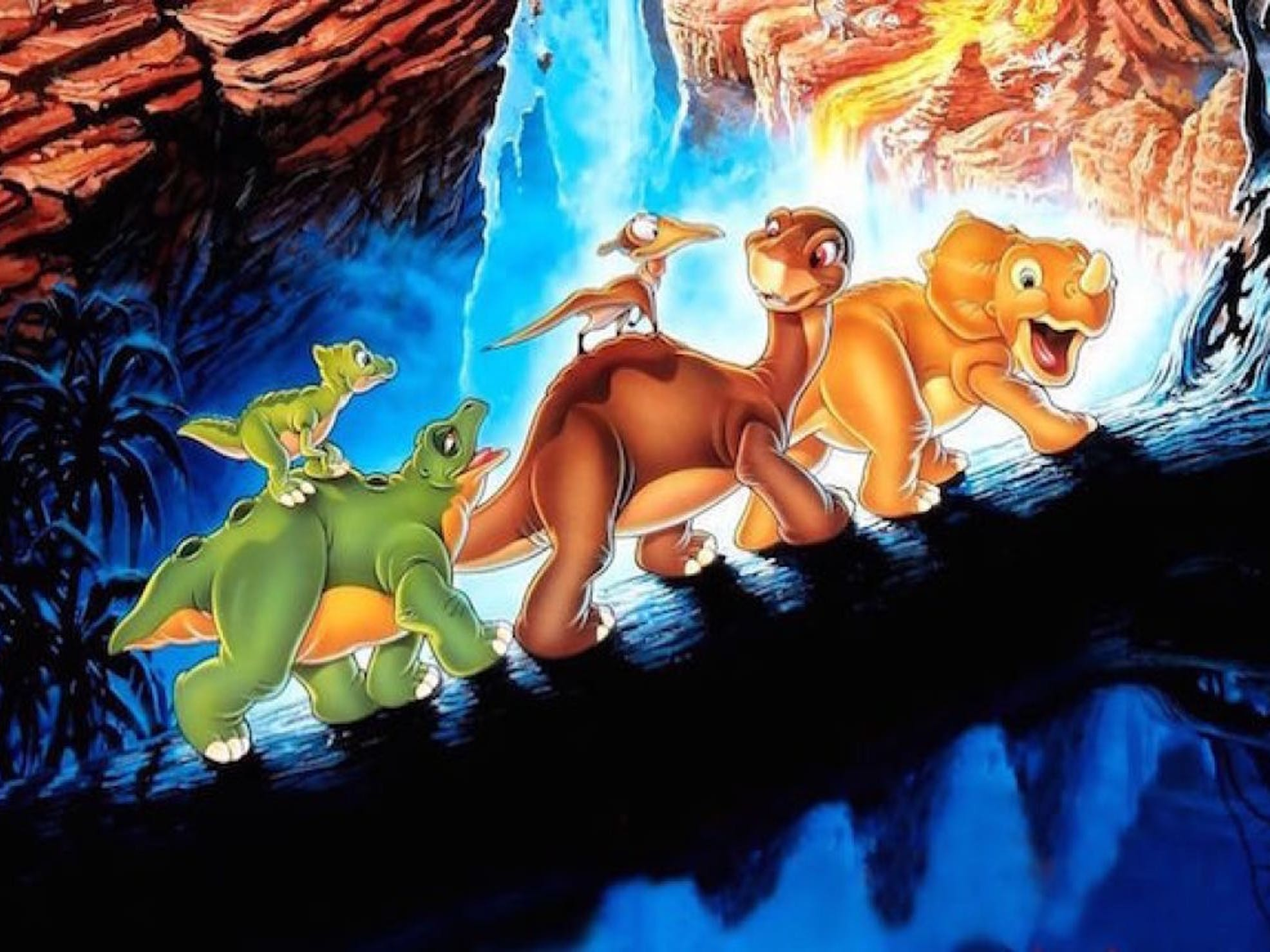 land before time 1988 movie poster