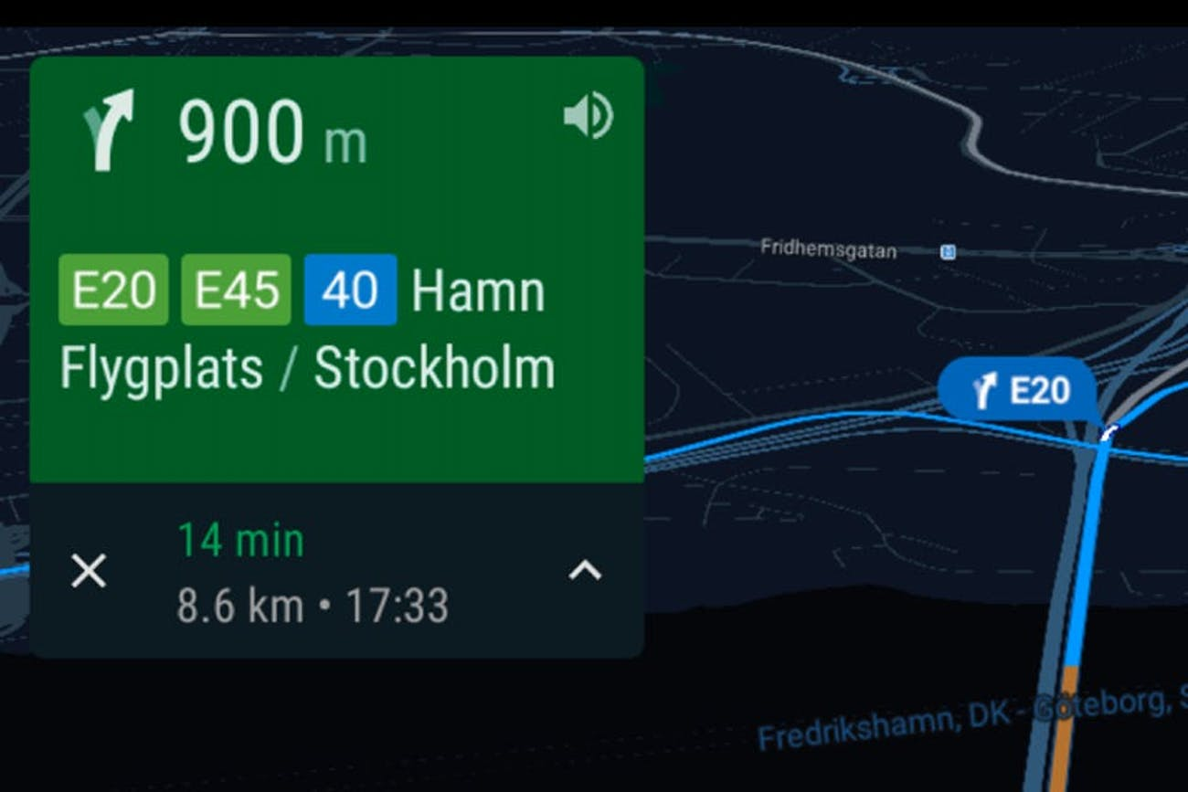 Polestar's mapping system in action.