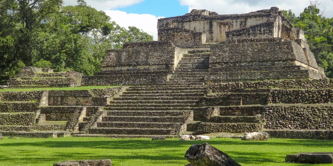 ancient Maya archaeological site named Caracol located in Belize in Central America