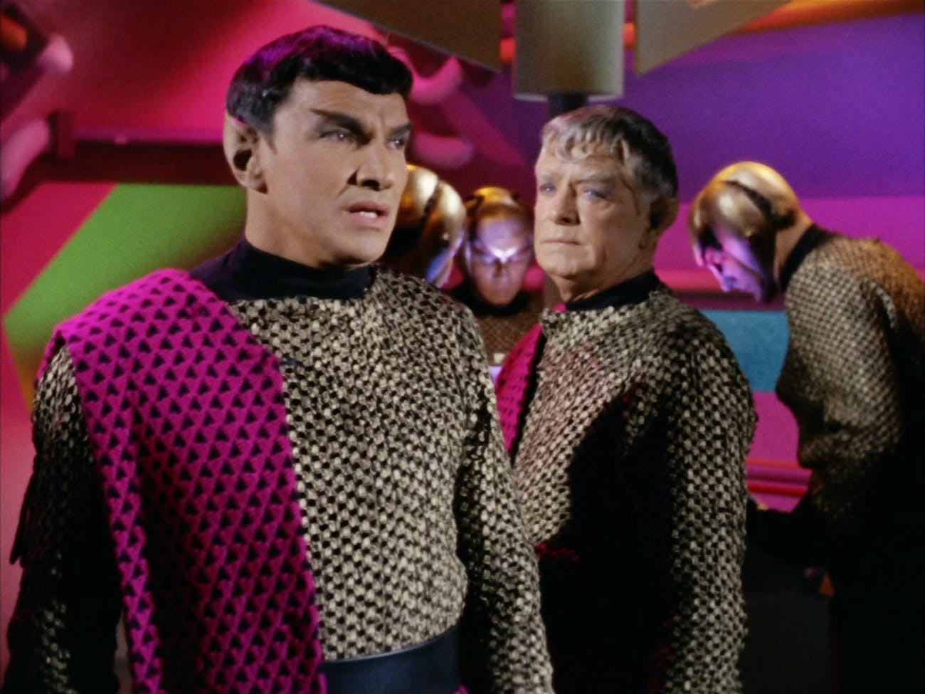 "Romulans as they appear during ""Balance of Terror."""