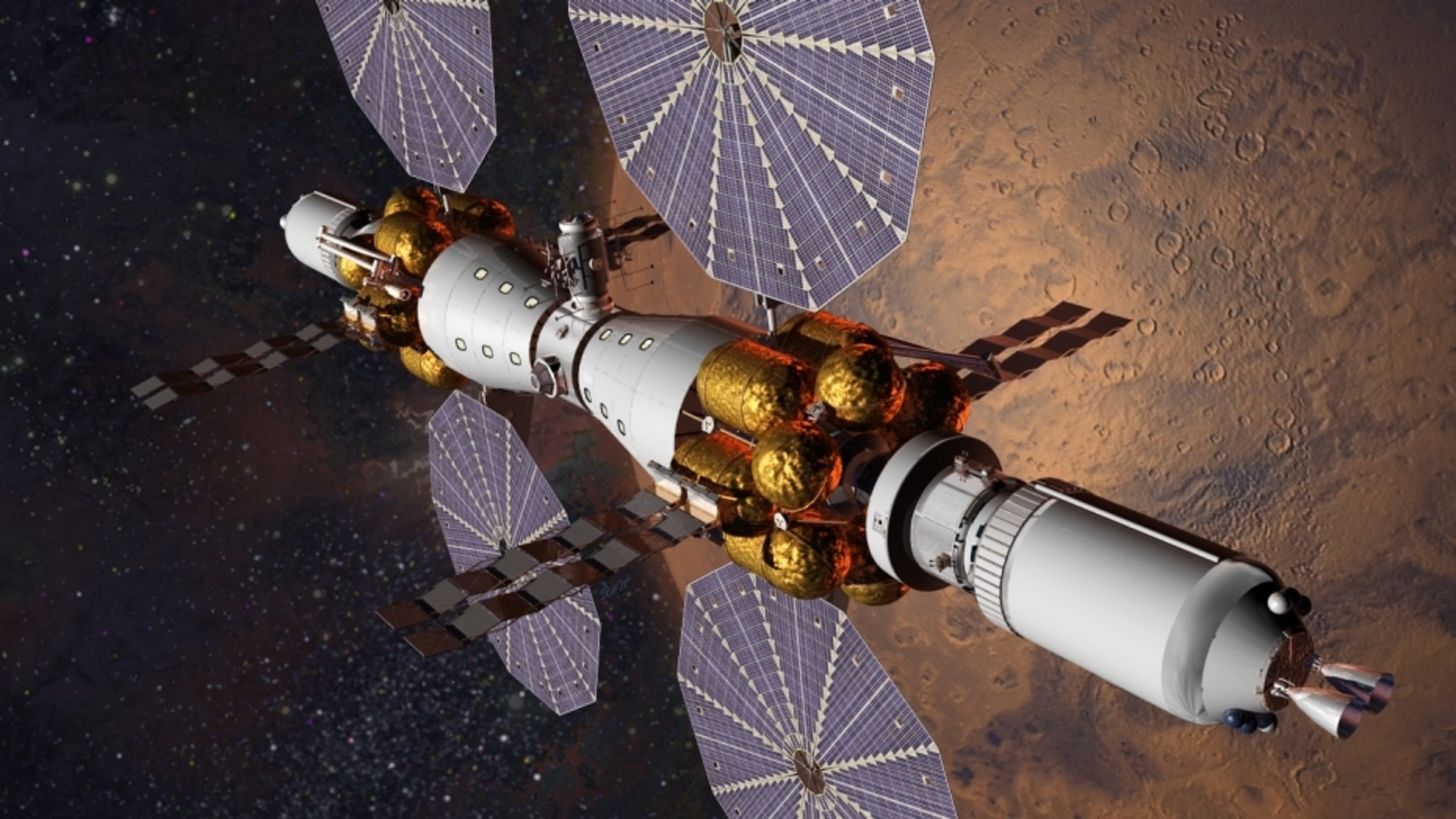 This is what Mars Base Camp will look like.