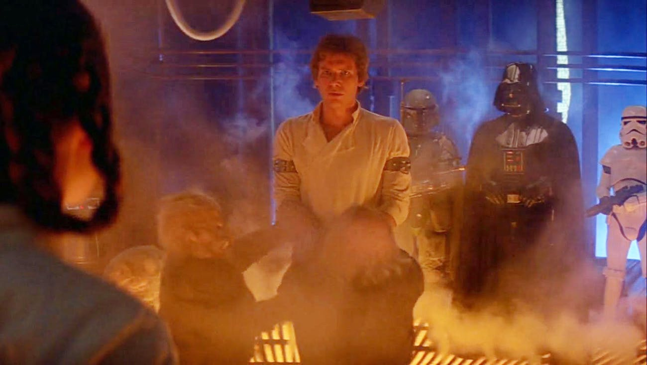 Han Solo gets frozen in 'The Empire Strikes Back'