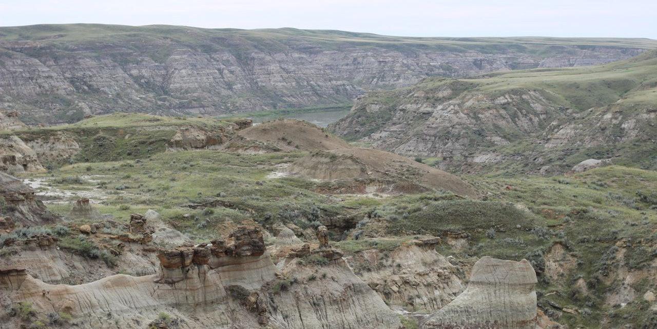 The South Saskatchewan River Valley near Hilda, Alberta.