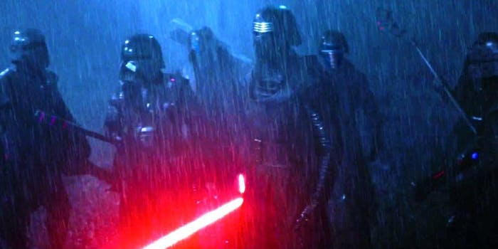 The Knights of Ren with Kylo in front.