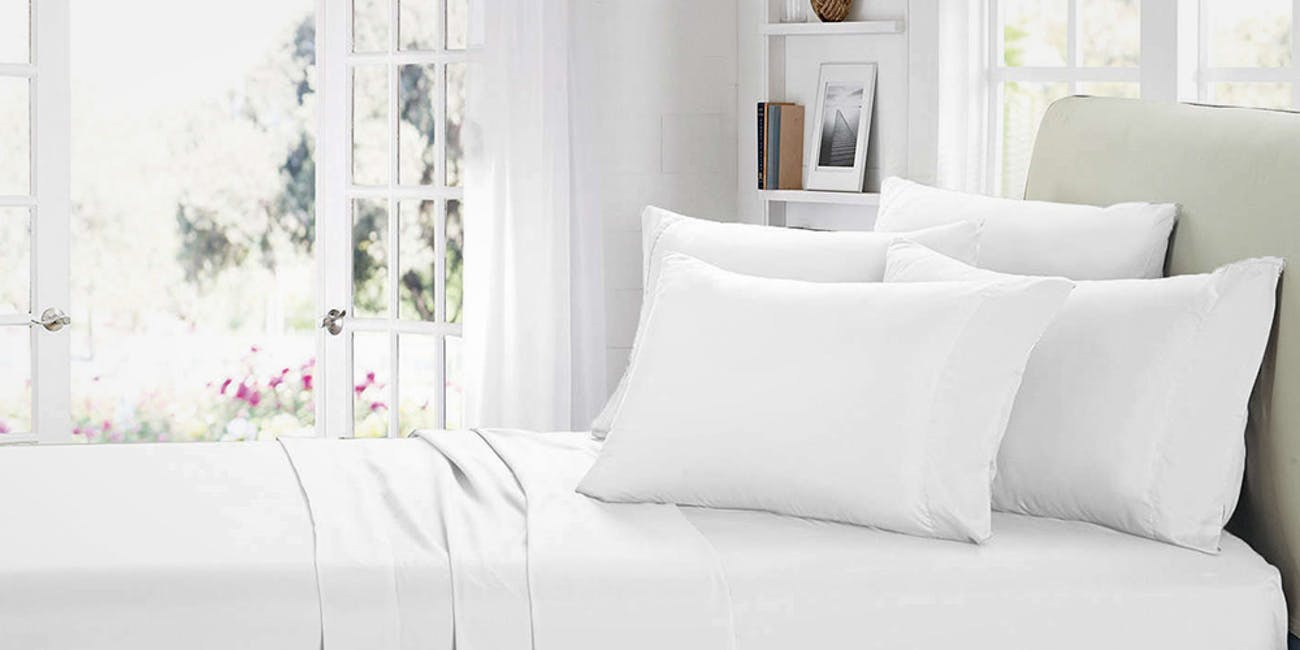 Smart Sheets 174 White Microfiber Sheet Set Inverse
