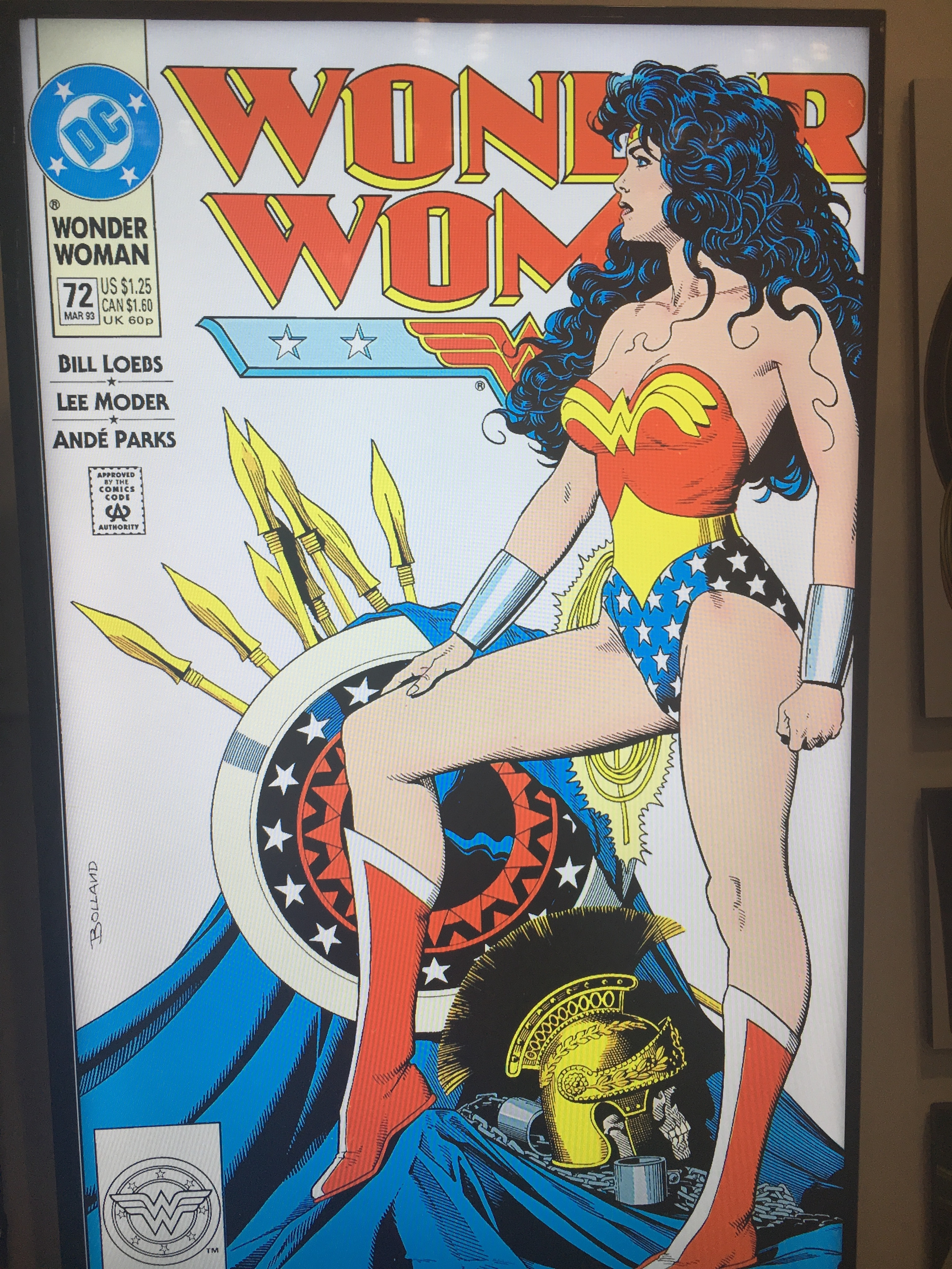 Iconic Wonder Woman artwork was also on display at the dedication.