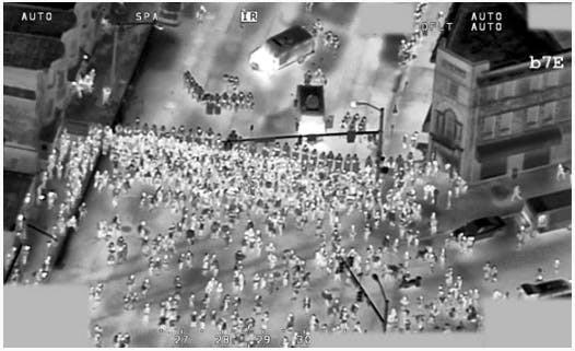 Surveillance footage released by the FBI of the protests over the death of Freddie Gray in Baltimore.
