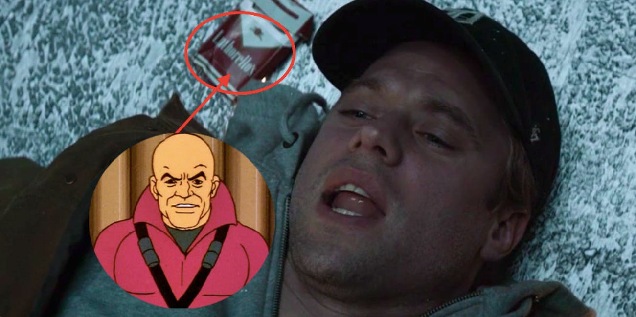 Adam Strange in 'Krypton' smokes cigarettes made by Lex Luthor
