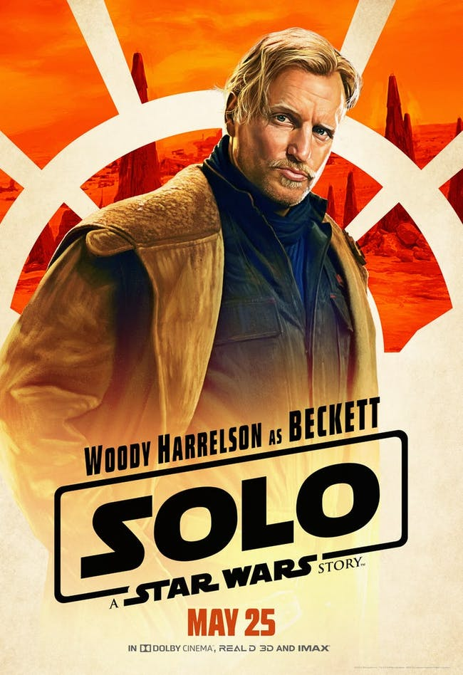 Woody Harrelson as Tobias Beckett in 'Solo: A Star Wars Story'.