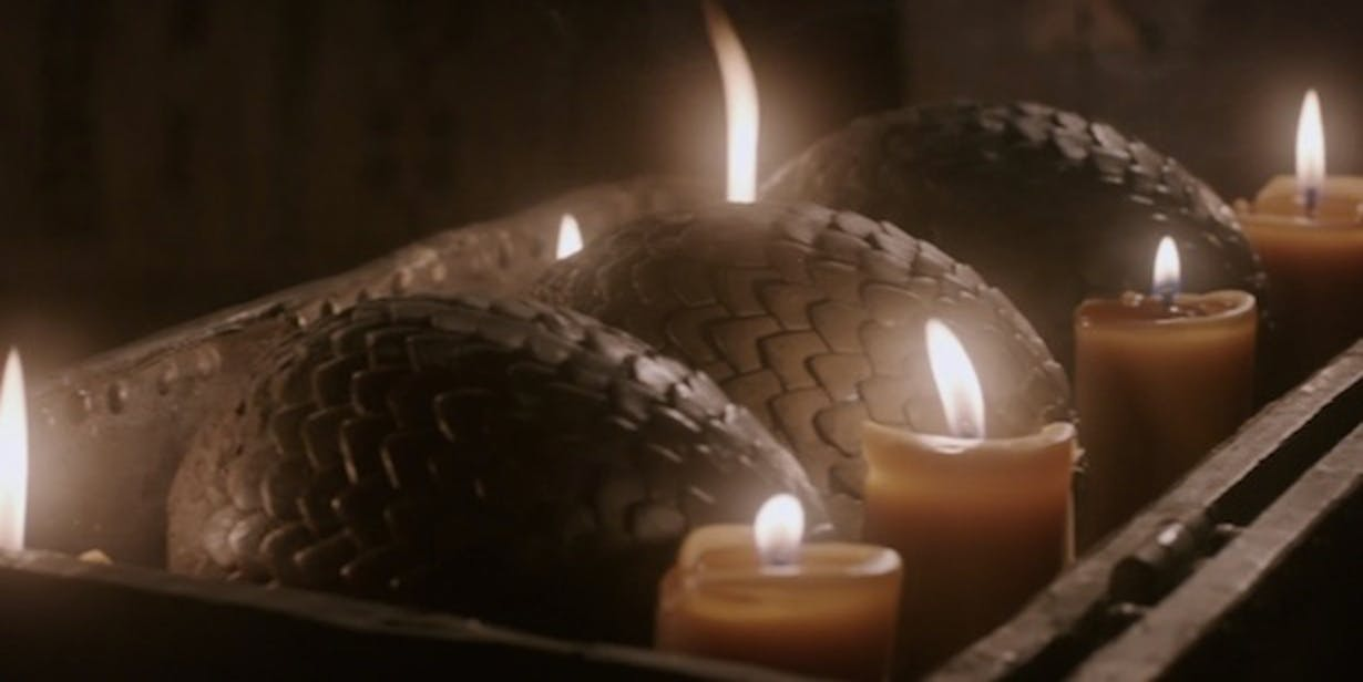 Dragon eggs in 'Game of Thrones'