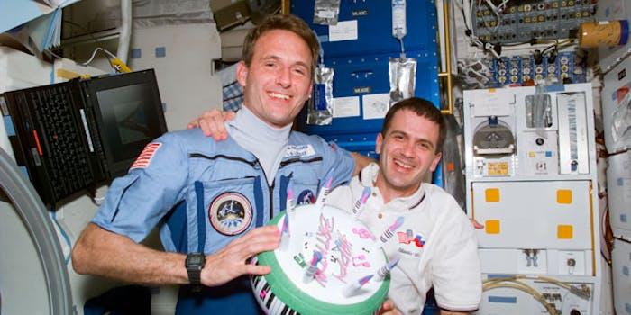 inflatable birthday cake NASA