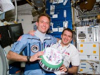 inflatable birthday cake NASA